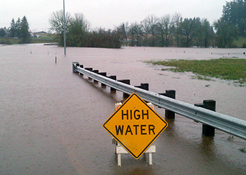 ODOT High Water sign