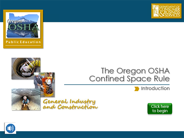 Oregon Occupational Safety and Health : Confined Spaces