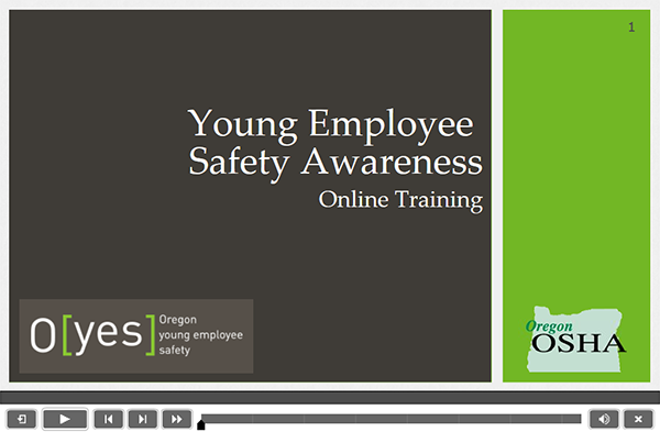 screen shot of online course