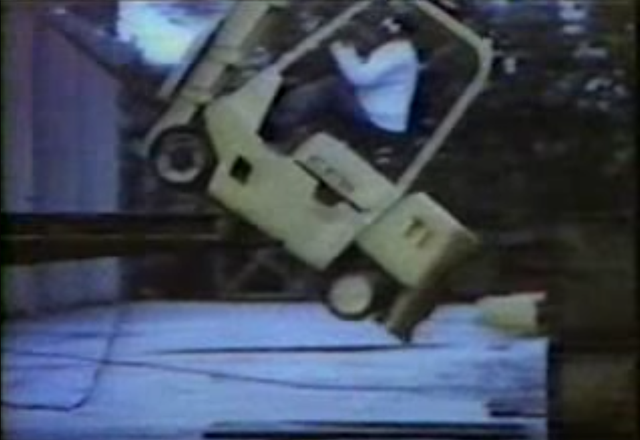 Click to play the video for Stay in The Cage: Forklift safety