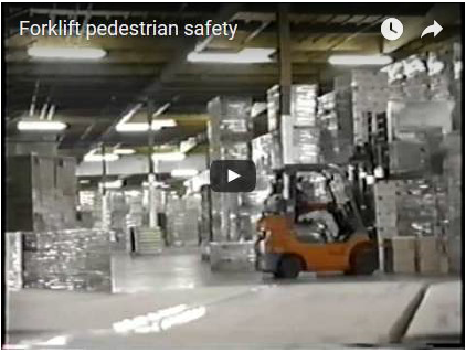 Click to play the video for Forklift pedestrian safety