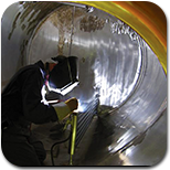 worker in a confined space