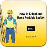 graphic of start screen of portable ladder app