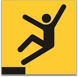graphic of falling stick figure person