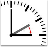 graphic of a clock