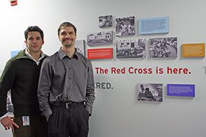 Francisco Ianni (left) and Steven Eberlein at the Oregon region of the Red Cross help businesses prepare for disaster.