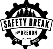 Safety Break for Oregon black and white logo