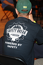 t-shirt with Safety Break logo